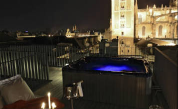 Eme catedral hotel sevilla hoteles con jacuzzi en la habitaci n - Terraza hotel eme ...
